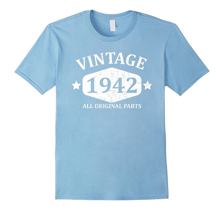 Funny Vintage 1942 75th Birthday Gift T-shirt Best Emoji Tee-BN