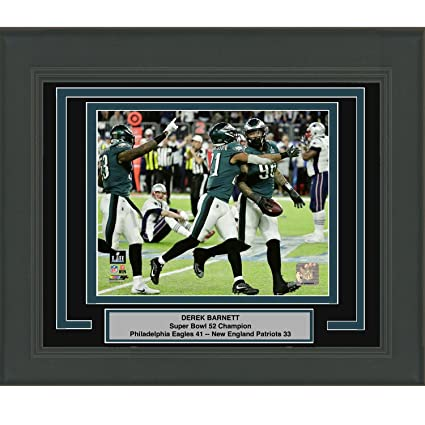 776c9f67d75 Framed Derek Barnett Fumble Recovery with Tom Brady Philadelphia Eagles  Super Bowl 52 Champions 8x10 Football
