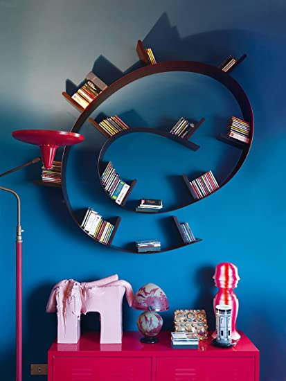 Libreria A Muro Kartell.Kartell Bookworm Mensola Da Parete Pvc Rosso Vino 320 X 19 X 20 Cm