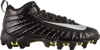 15f354c04d84 Nike Kids' Alpha Menace Shark Football Cleats - Black/Silver, 2 Little Kid