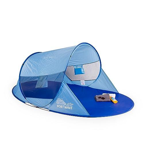 2 opinioni per Tenda a conchiglia da spiaggia pop up Arielle, Portwave, protezione UV 60, blu