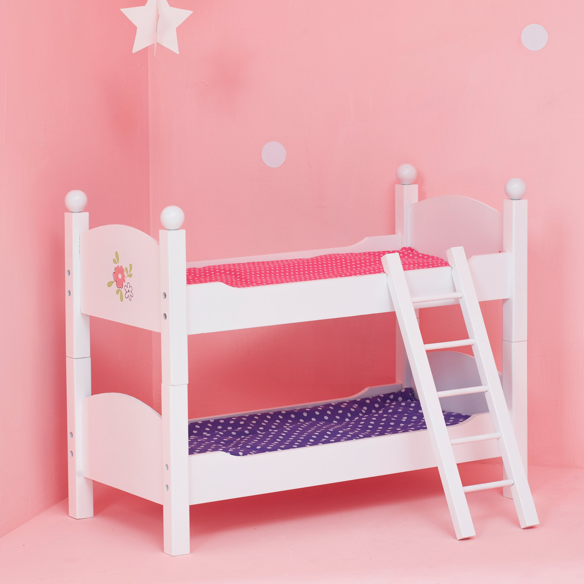 olivia 39 s little world princess double bunk bed white wooden 18 inch doll 812401019617 ebay. Black Bedroom Furniture Sets. Home Design Ideas