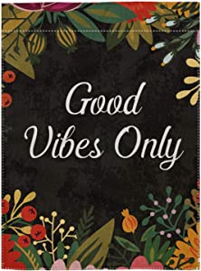pingpi Good Vibes Only Double Sided Burlap Garden Flag 12.5