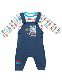 9c952c228 Thomas & Friends Baby Boys Thomas The Tank Engine Dungaree Set Ages 0 to 18  Months