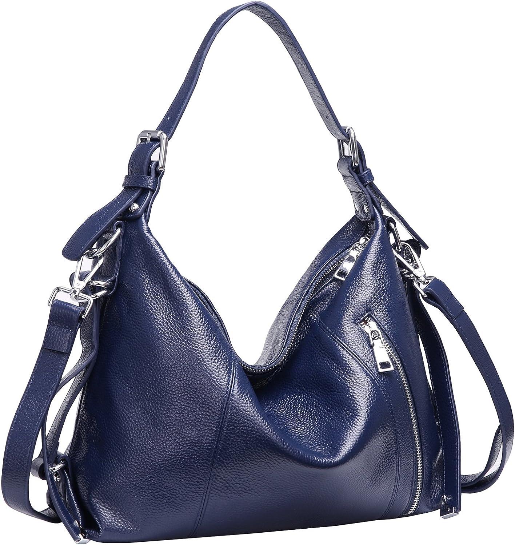 Heshe Vintage Womens Leather Handbags Tote Bag Top Handle Bag Satchel Designer Purses Cross-body Bag