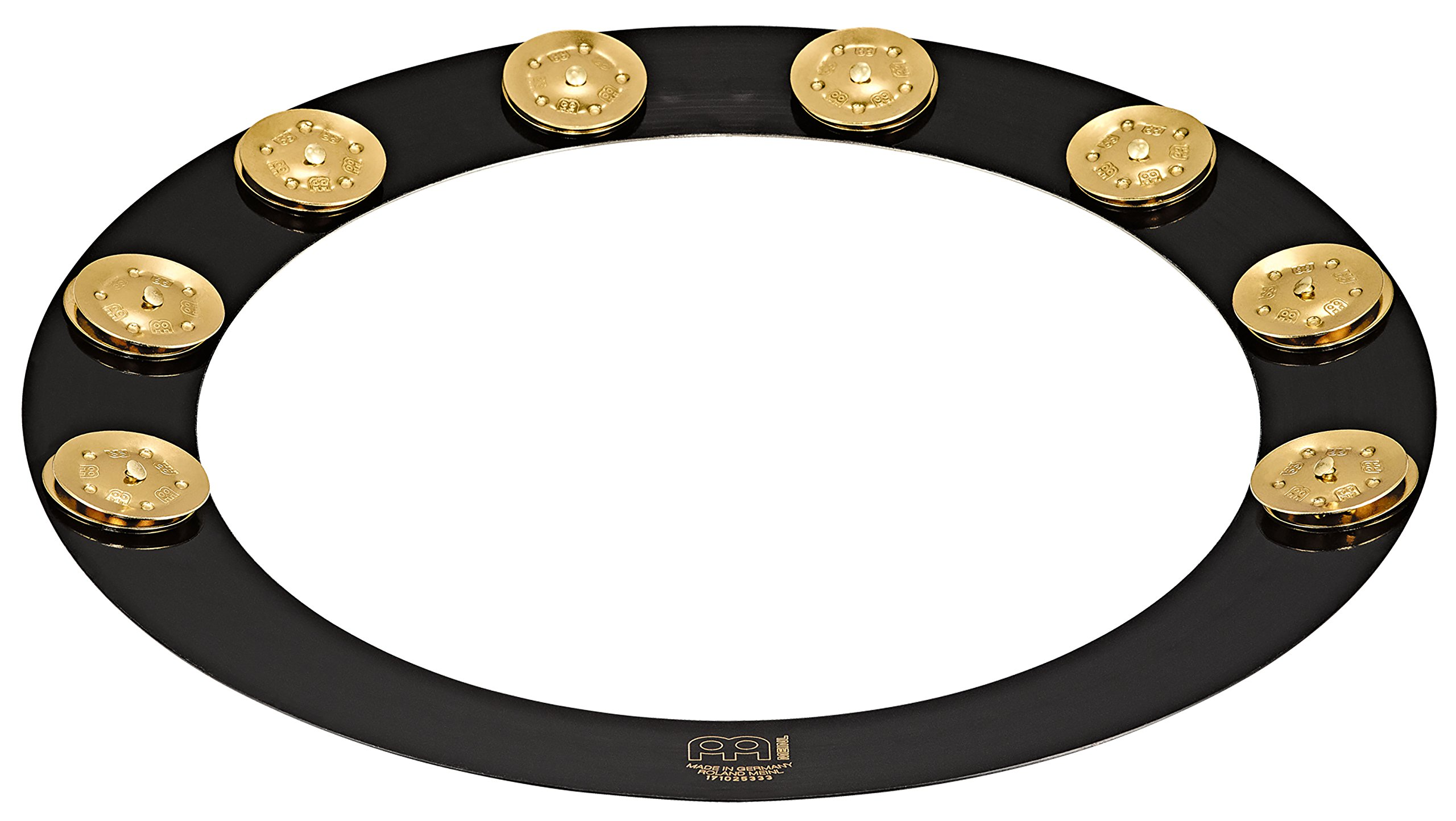 Meinl Percussion Backbeat Pro 14'' Brass Hoop Tambourine with Brass Jingles for Snare Drums, TWO YEAR WARRANTY (BBP14) by Meinl Cymbals