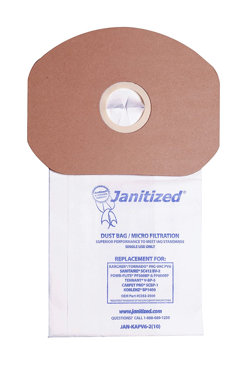 Janitized JAN-KAPV6-2(10) Premium Replacement Vacuum Paper ...