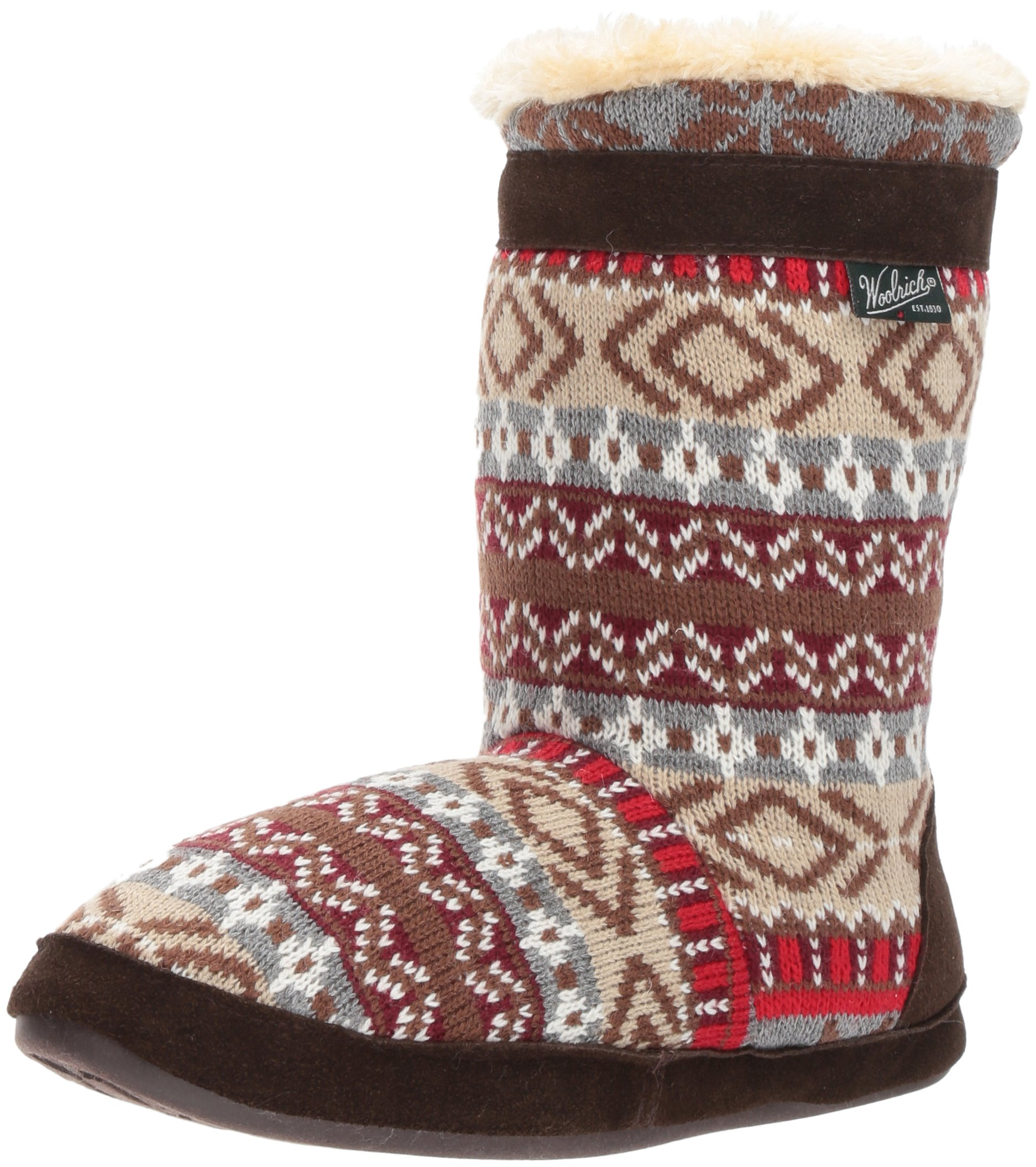 Woolrich Women's Whitecap Knit Boot Slipper, Kendall Creek, 7 M US