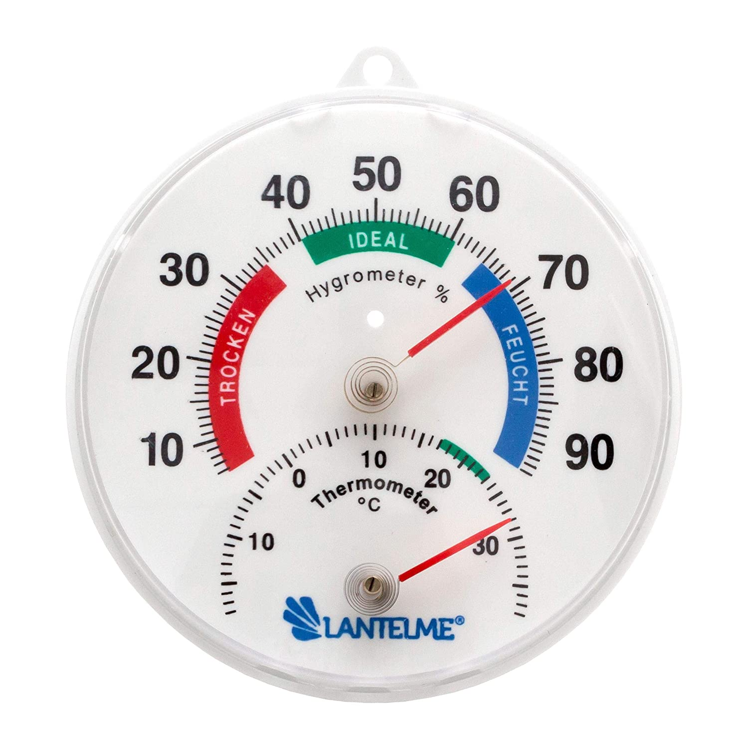 Lantelme 4127 Thermometer / Hygrometer Analogue Combination Machine for Interior and Exterior Use. Thermohygrometer