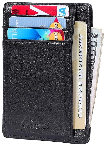 Amazon.com: Billetera delgada RFID con bolsillo frontal ...