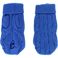 sourcingmap a15092100ux0068 Acrylic Pet Dog Puppy Ribbed Cuff Turtleneck Knitwear Sweater Small Blue