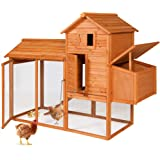 """Best Choice Products 80"""" Wooden Chicken Coop Backyard Nest Box Wood Hen House Poultry Cage Hutch"""