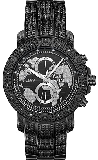 0b7dcaf21b2 JBW Men s Veyron .18 ctw Diamond Black Ion-Plated Stainless Steel Watch  J6360B