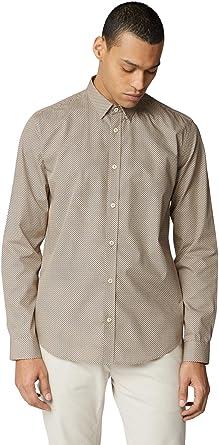 Ben Sherman - Camisa retro con estampado cuadrado para ...