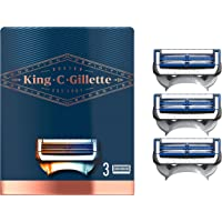 King C. Gillette Men's Neck Shaving Razor Blades, Pack of 3 Refills, with Skinguard and Gillette's Best and Sharpest…