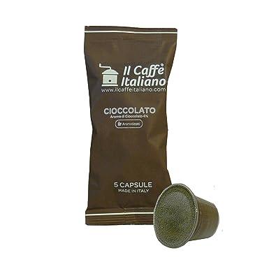 Il Caffè Italiano, 50 Cápsulas de Café compatibles Nespresso sabor de chocolate, 5 cápsulas