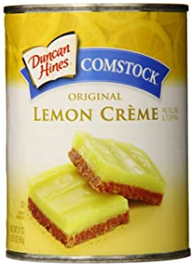 Comstock Pie Filling & Topping, Lemon Cream, 21 Ounce (Pack of 8)