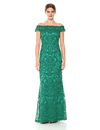3165b14b086d Tadashi Shoji Dupre Off-The-Shoulder Gown at Amazon Women s Clothing ...