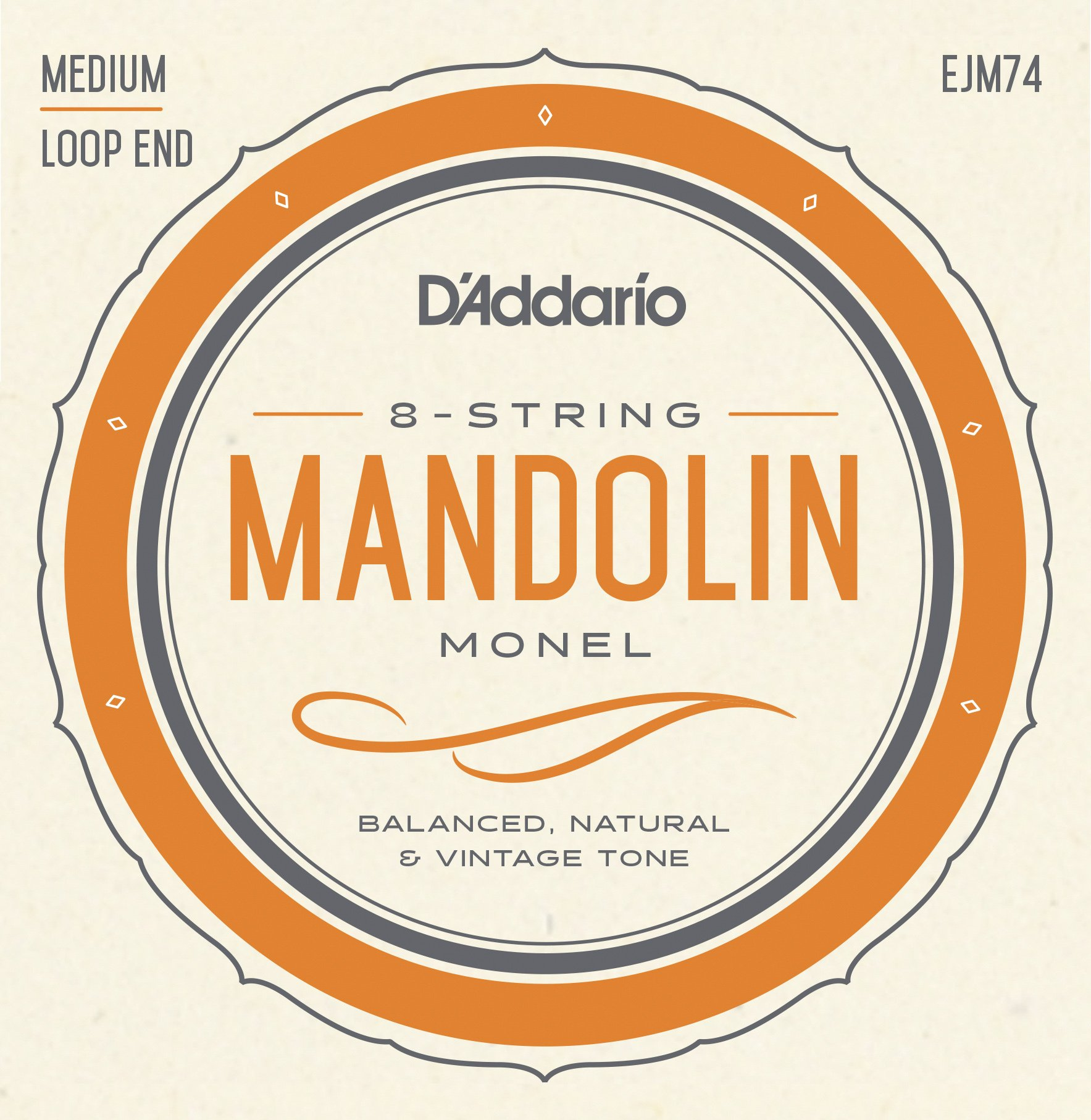 D'Addario Mandolin Monel Set, Medium, 11-40 (EJM74)