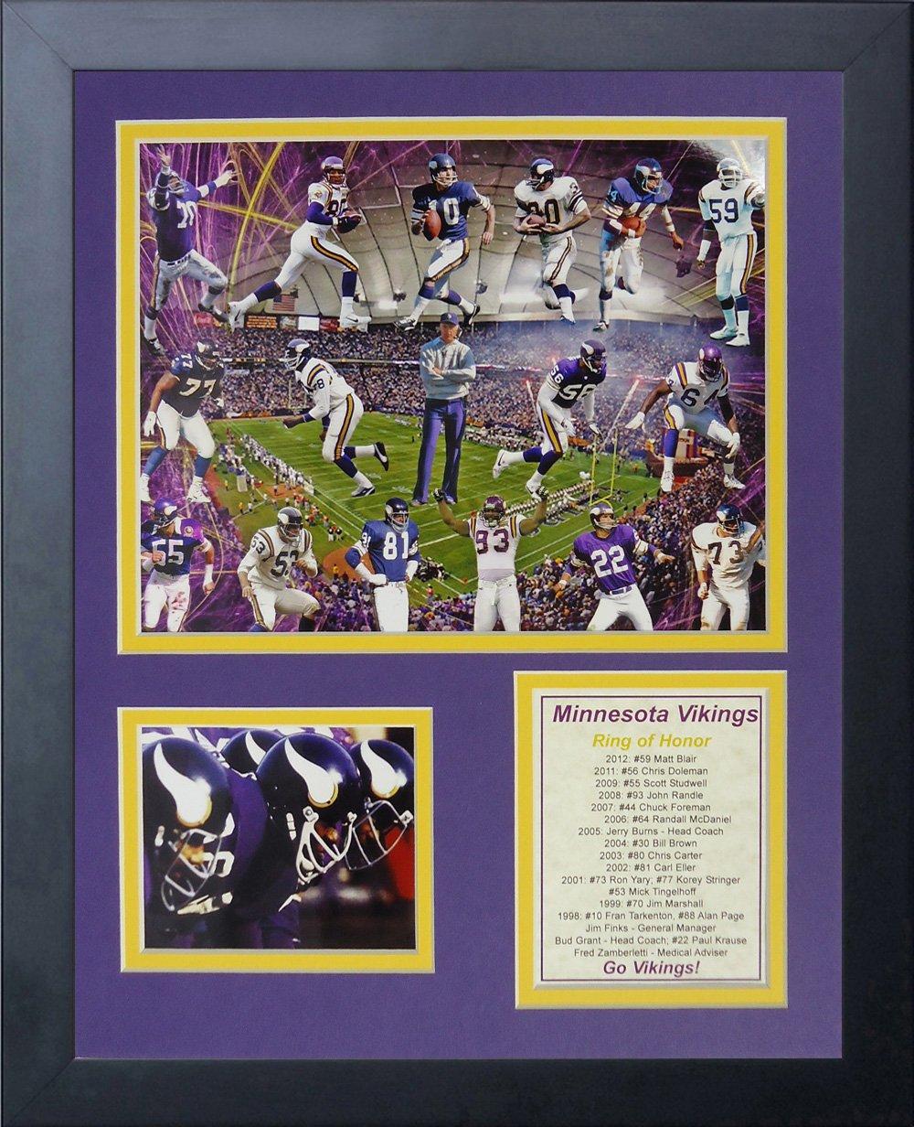 超熱 Legends Die Never Die 14インチ Minnesota Vikings Greats B00MI4EGN8 Framed写真コラージュ、11 by 14インチ B00MI4EGN8, イセサキシ:4e5b10e1 --- arianechie.dominiotemporario.com