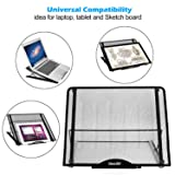 Large Version Stand Ventilated Adjustable Light Box Laptop Pad Stand,IMAGE Multifunction(12 Angles) Skidding Prevented Tracing Holder for AGPtek/Huion A3 A4 LED Tracing Light Pad & Diamond Painting