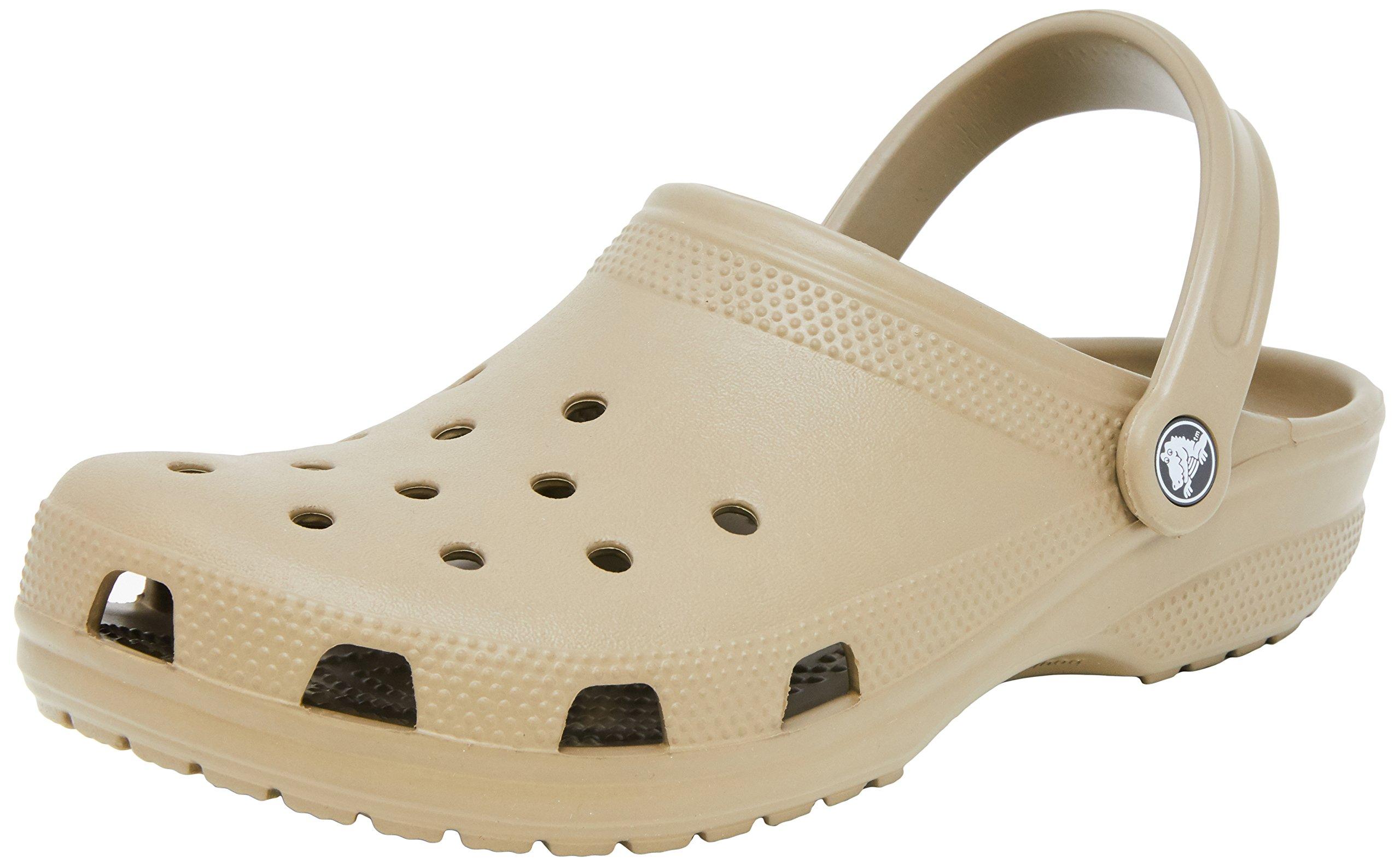 Crocs Adult Classic Clogs Khaki-260 Brown 13 by Crocs