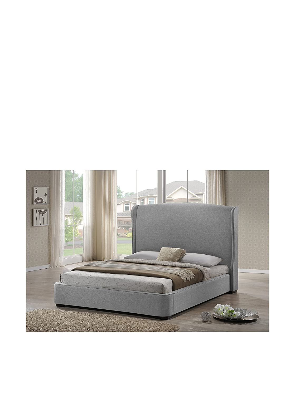 amazoncom baxton studio sheila linen modern bed with upholstered  - amazoncom baxton studio sheila linen modern bed with upholstered headboardking gray kitchen  dining