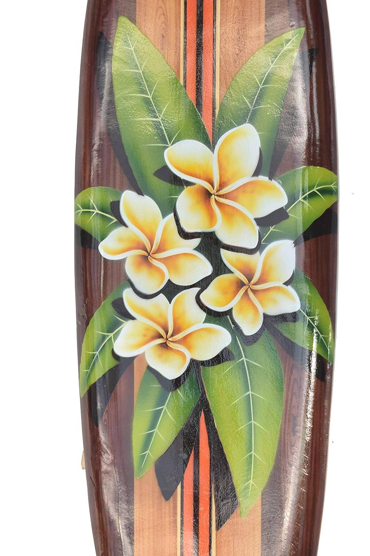 Interlifestyle Fleurs Planche de Surf avec Frangipani Motif Déco Planche de  Surf 100cm Hawaii Panneau en a43faf0285de