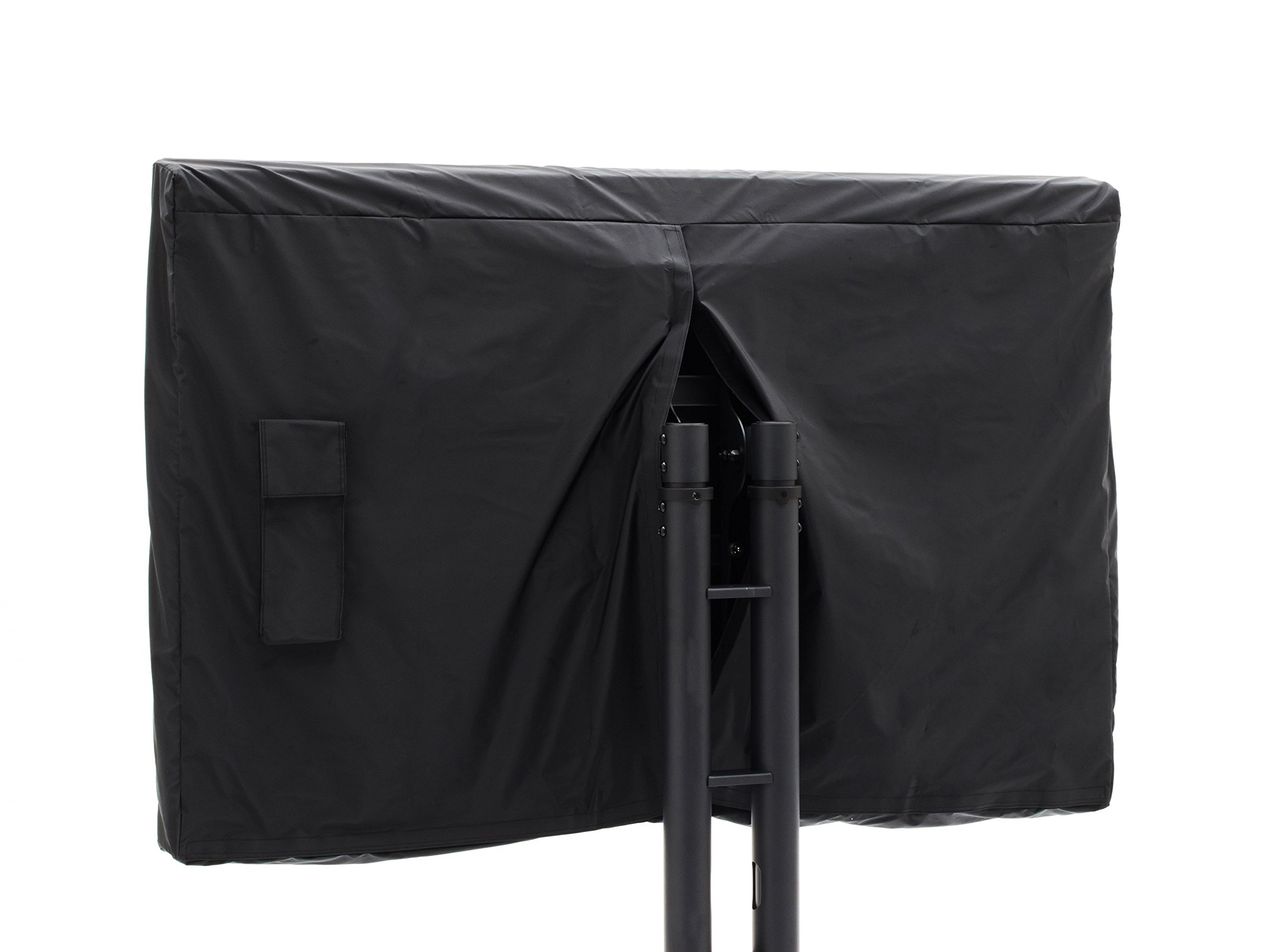 CoverMates - Outdoor TV Cover - Fits 55 to 59 Inch TV's - Classic - 12-Gauge Vinyl With Polyester Backing - Full Coverage - Bottom And Back Velcro Closures - 2 Year Warranty - Water Resistant - Black