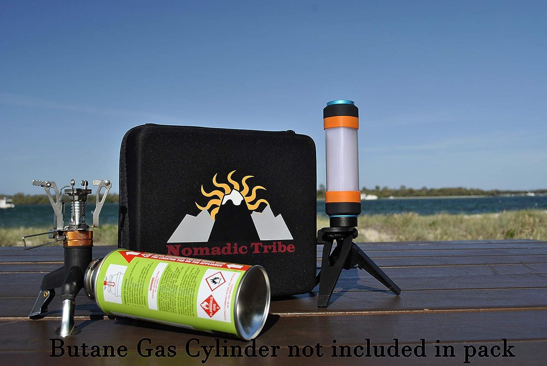 Nomadic Tribe Juego de Estufa de Gas para Camping: Amazon.es: Deportes y aire libre