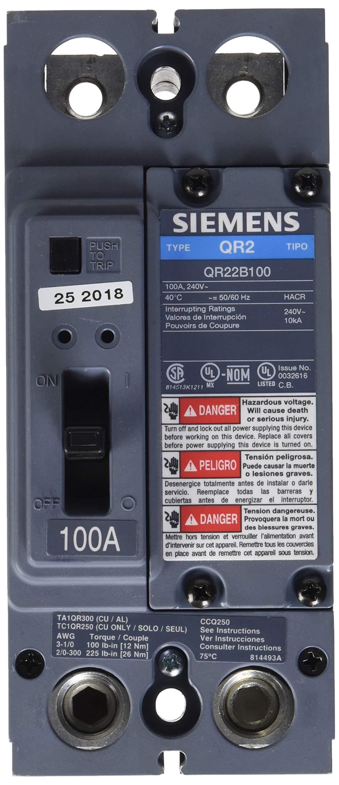 Siemens US2:QR22B100 Molded Case Circuit Breaker Color