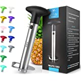 Zulay Kitchen Pineapple Corer and Slicer tool - Stainless Steel Pineapple Cutter for Easy Core Removal & Slicing - Super…