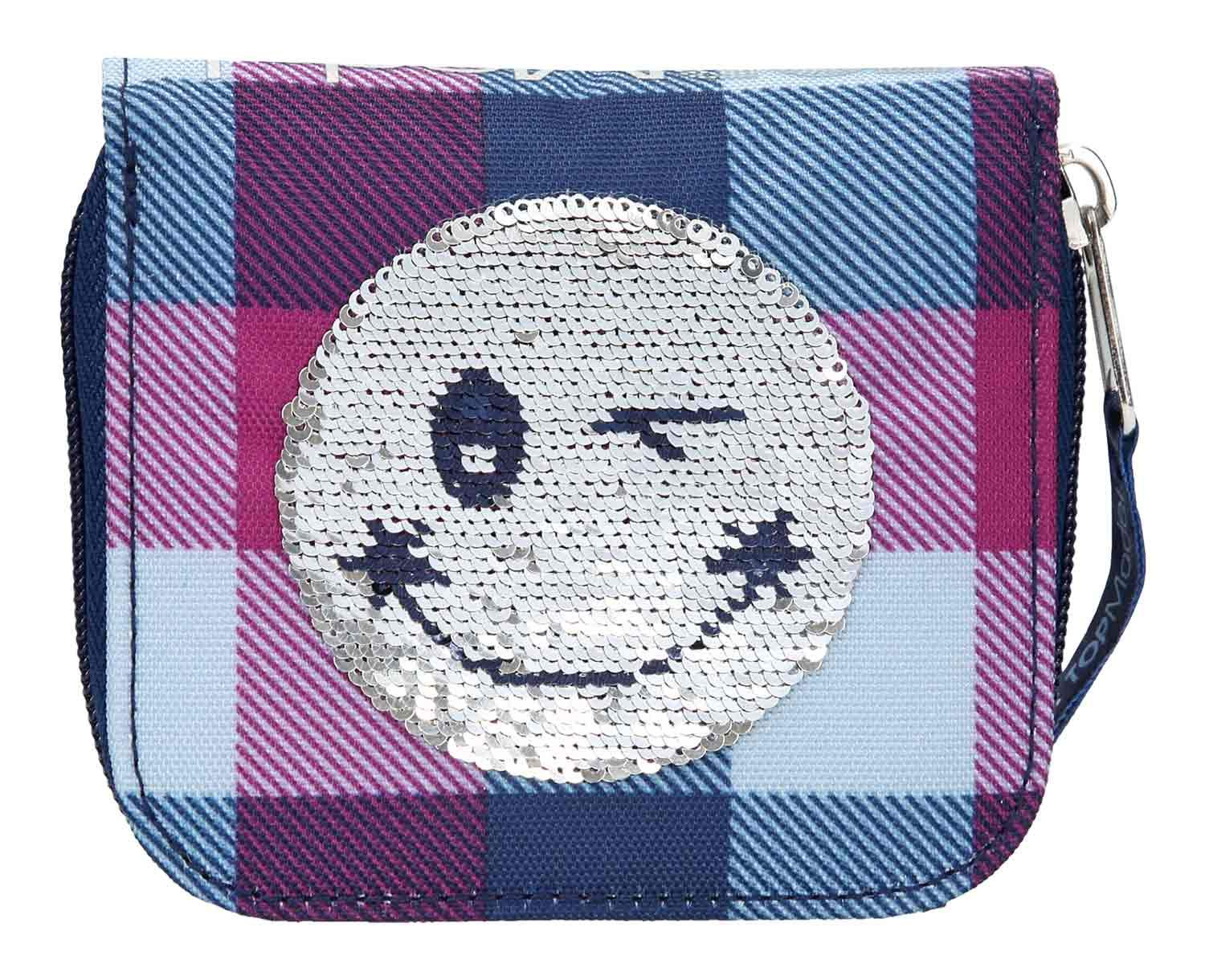 Depesche 10209 Cartera TOPModel Smiley con Lentejuelas, Color Azul