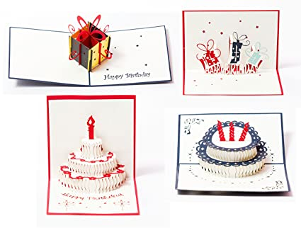Amazon 3d Pop Up Happy Birthday Gift Greeting Cards For Kids