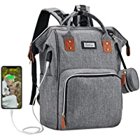 Beikeren Baby Diaper Bag Backpack for Women with Changing Pad Travel Baby Care Bag and Multifunctional Waterproof…