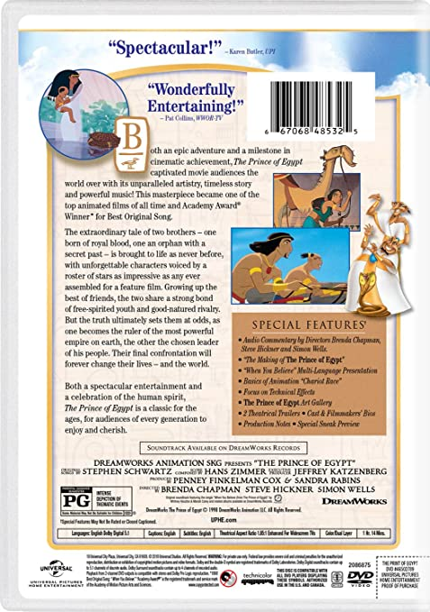 Amazon com: The Prince of Egypt: Val Kilmer, Ralph Fiennes