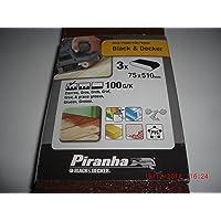 Black+Decker X33166-XJ - 3 Bandas de lija. 75