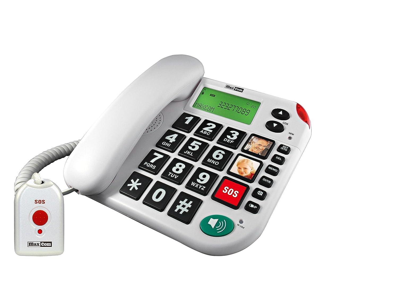 Telephone Filaire KXT481 avec MEDAILLON SOS MAXCOM KXT 481