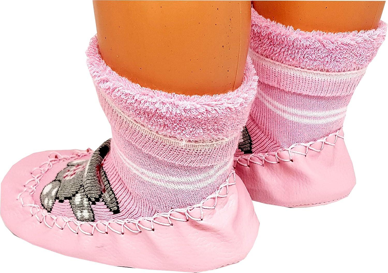 PAHMUK Kids Girls//Boys Warm Cute Anti-Slip Comfy Indoor Slipper Socks RED Bow