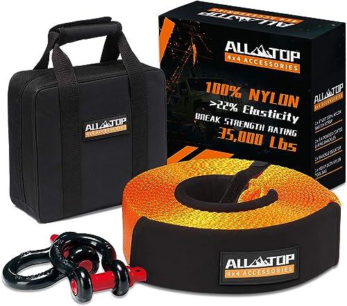 ALL-TOP Nylon Heavy Duty Tow Strap Recovery Strap Kit
