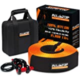 ALL-TOP Nylon Heavy Duty Tow Strap Recovery Strap Kit : 3 inch x 30 ft (35,000 lbs) 100% Nylon and 22% Elongation Snatch Stra