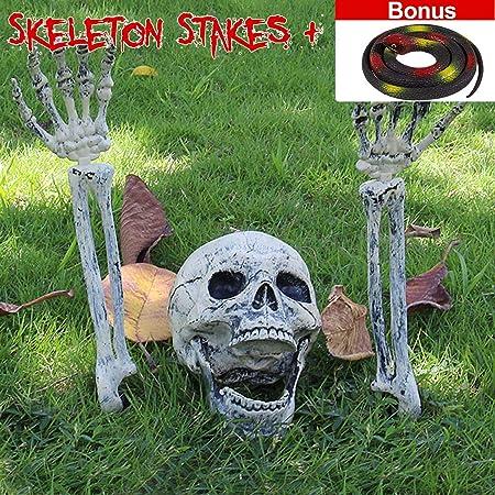 Skeleton Flamingo Zombie Scary Halloween Yard Decoration Prop Haunted House