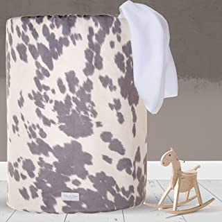product image for Glenna Jean Large Laundry Basket, Collapsible, Storage Bin, Nursery for Baby Boys & Girls,CowAnimal Print for Boys & Girls,Grey/White