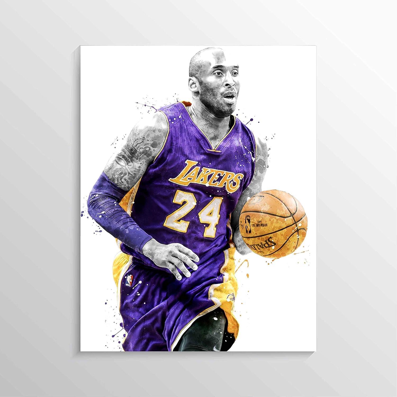 Kobe Bryant Print, Kobe Bryant Poster, Los Angeles Lakers Poster, Basketball Wall Art, Basketball Decor, NBA Poster, Man Cave Decor