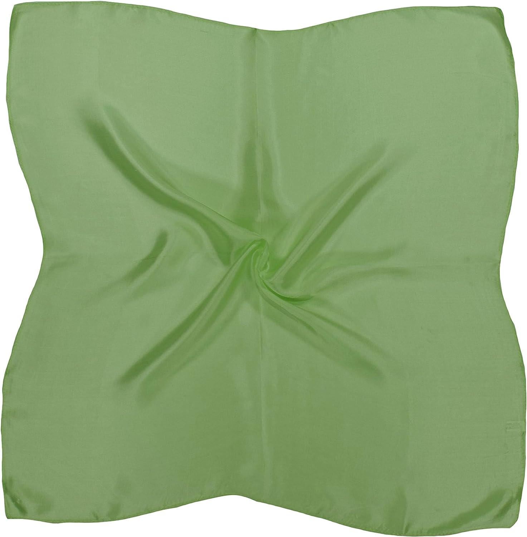 Apple Green Small Fine Silk Square Scarf