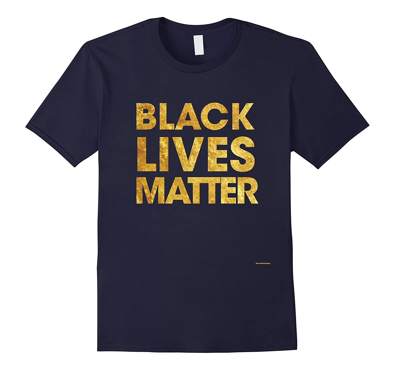 Black Lives Matter t shirt Gold No-Veotee