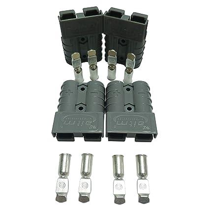 Batterie Connecteur 50a Batterie Connexion Rapide Prise De Connecteur 50amp 600v Pour Voiture Van Les Modes Moto 4 Pcs Kit 6 Awg
