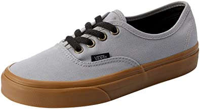 776788bd57422b Vans Unisex Authentic (Gum Outsole) Alloy Gray Black Fashion Sneaker (5 D