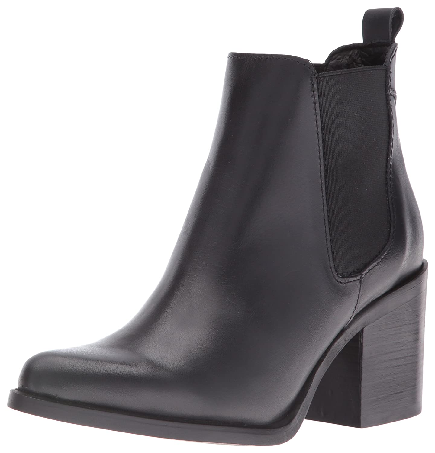 Amazon.com | Steve Madden Women's Pistol Ankle Bootie, Black Leather, 7.5 M  US | Ankle & Bootie