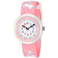 Kids' Up in the Sky Quartz Polyester Strap, Pink, 14 Casual Watch (Model: ZFBNP121)